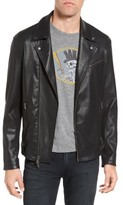 John Varvatos Men's Coated Moto Jacket