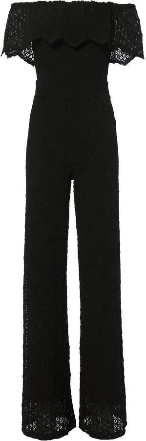 Nightcap Clothing Positano Off Shoulder Lace Jumpsuit