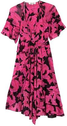 Diane von Furstenberg Zion Floral Printed Wrap Midi Dress