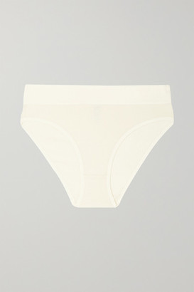 Base Range Baserange - Net Sustain Ribbed Stretch-organic Cotton Briefs - Cream