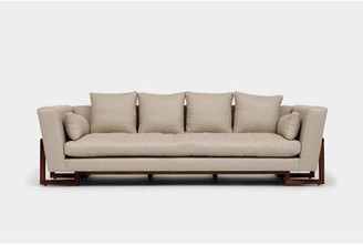Artless LRG Sofa Upholstery Color: Foam Linen Blends, Finish: Walnut, Accessories: No Trays