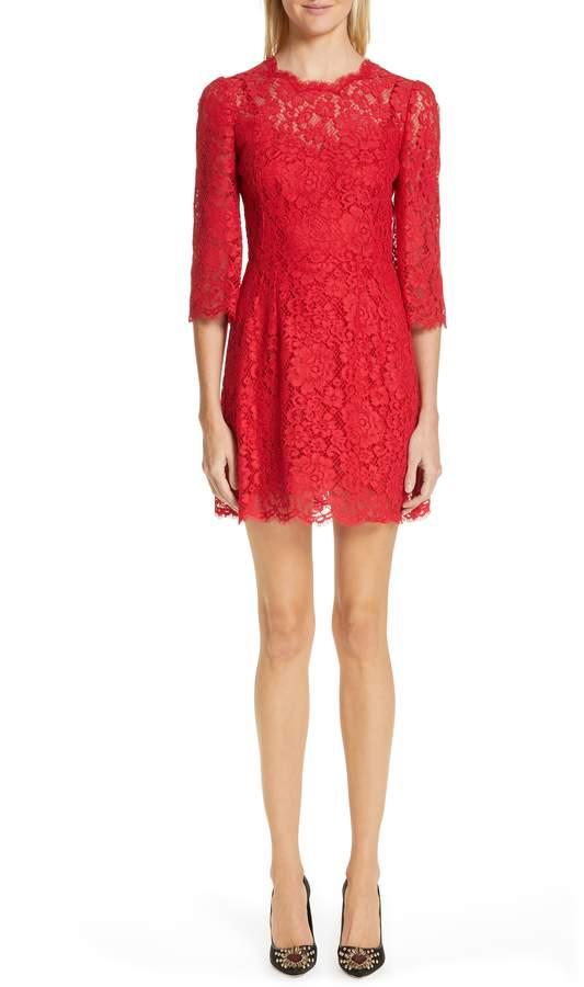Dolce & Gabbana Lace A-Line Dress