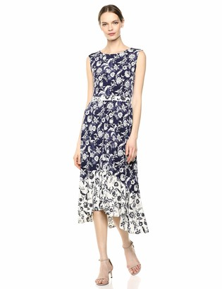 Chaus Women's S/L Batik Floral Dress