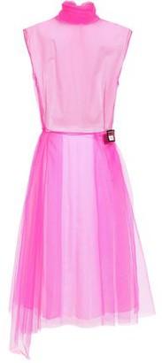 Prada Appliqued Layered Neon Tulle And Poplin Dress