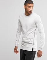 Lindbergh Sweatshirt With Side Zip In Gray