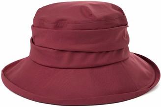 PJR Unisex Waterproof Rain Hats for Walking Biking Wide Brim Rain Cap Bonnet w/Visor Chin Strap Elastic Fit