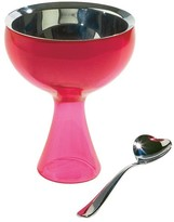 Alessi Big Love Bowl & Spoon - Fuchsia