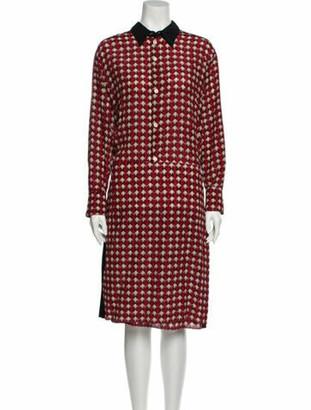 Marni Silk Midi Length Dress w/ Tags Red