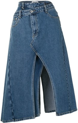Ground Zero Asymmetrical Denim Skirt
