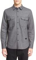 Rag & Bone Men's 'Jack' Trim Fit Raw Edge Wool Blend Shirt