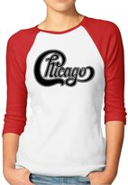 Rong T-shirts Women's Chicago Band High Res Logo Raglan Baseball T-Shirt