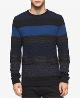 Calvin Klein Men's Striped Crew-Neck Sweater