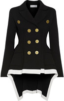 Sonia Rykiel Double-breasted Asymmetric Wool-blend Jacket - Black