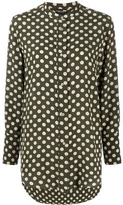 Aspesi Polka-Dot Silk Shirt