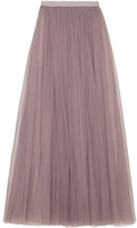 Needle & Thread Tulle Maxi Skirt - Lavender