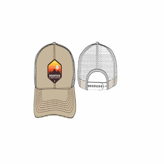 Concept One Men's Mountain Embroidered Patch Slightly Curved Uncle Cap Trucker