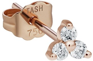 Maria Tash 18kt rose gold large diamond Trinity stud earring