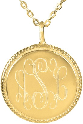 Personalized Engraved 24K-Plated Sterling Monogram Necklace