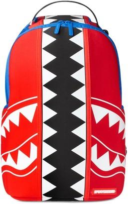 Sprayground Shark Printed Canvas Backpack