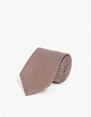 Canali Weave pattern silk tie