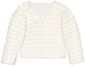 La Redoute Collections Long Fringed Cardigan, 3-12 Years