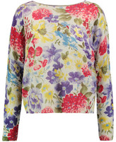 Autumn Cashmere Floral Intarsia Cashmere Sweater