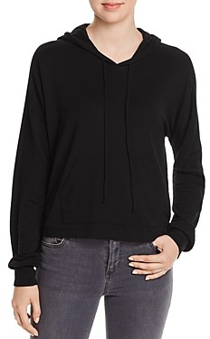 Red Haute Cropped Hoodie