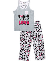 Briefly Stated Tsum Tsum Gray Two-Piece Juniors Pajama Set