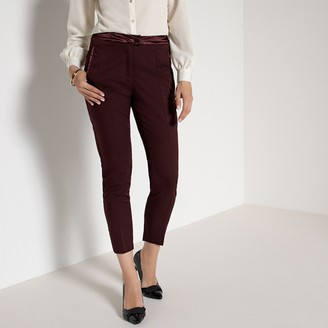 """Anne Weyburn Straight Stretch Ankle Grazer Trousers, Length 26.5"""""""