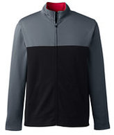 Classic Men's Big Tailored Colorblock Active Zip Jacket-Gray/Red Azalea