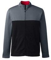 Classic Men's Big Tailored Colorblock Active Zip Jacket-Gray/Red Azalea