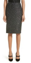 St. John Women's Sparkle Wave Tweed Knit Skirt