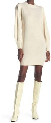 RD Style Puff Sleeve Tunic Sweater Dress