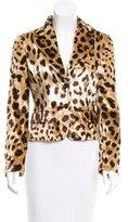 Dolce & Gabbana Leopard Print Velvet Blazer