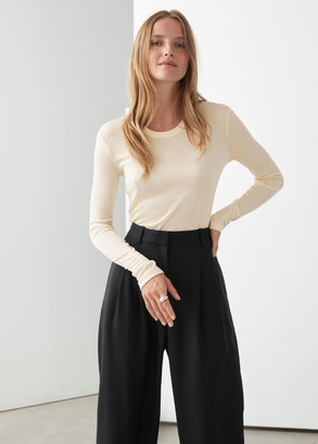 And other stories Fitted Long Sleeve Top