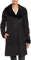 Blue Duck Women's Wing Collar Genuine Shearling Coat