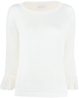 Bruno Manetti Knitted Frayed Cuff Jumper