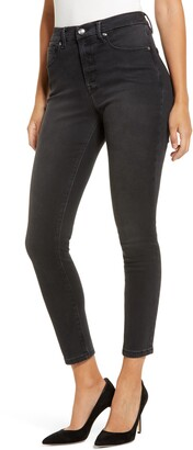 Good American Good Legs High Waist Crop Skinny Jeans