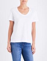 Sunspel Scoop neck cotton-jersey top