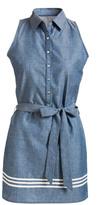 Evergreen Chambray Sleeveless Shirt Dress