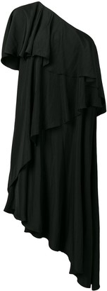 Lanvin asymmetrical ruffle dress