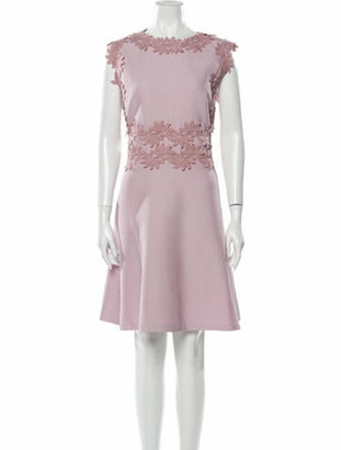 Giambattista Valli Scoop Neck Knee-Length Dress Purple