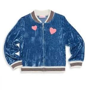 Design History Little Girl's Velour Jacket