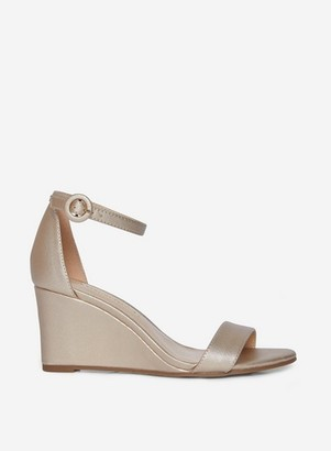 Dorothy Perkins Womens Gold 'Ramona' Wedge Sandals, Gold