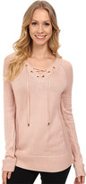Calvin Klein Lace Up V-Neck Sweater