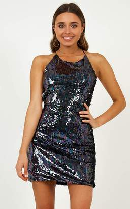 Showpo Just Have Fun Dress in multi sequins - 4 (XXS) The Nightclub