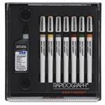 Alvin Koh-I-Noor Slim Pack Rapidograph Set 7-Pen Set