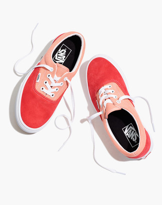 Madewell Vans Unisex Vintage Sport Era Lace-Up Sneakers in Pink Colorblock