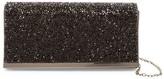 La Regale Faux Leather Stone Flap Clutch