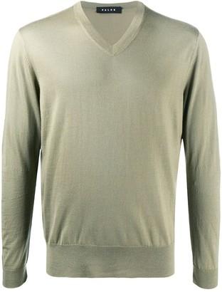 Falke V-neck wool jumper